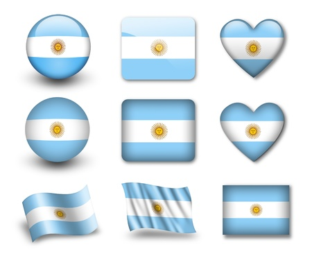The Argentine flag photo
