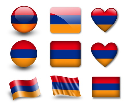 armenia: The Armenian flag Stock Photo