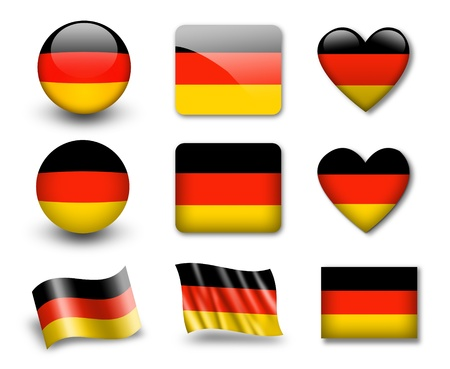 The German flag Stock Photo