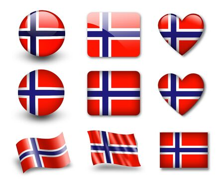 The Norwegian flag photo
