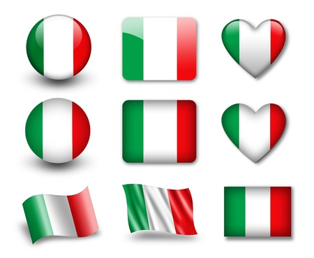 The Italian flag Stock Photo - 12406946
