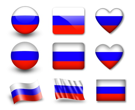 The Russian flag Stock Photo - 12406944