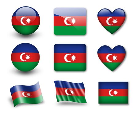 The Azerbaijani flag photo