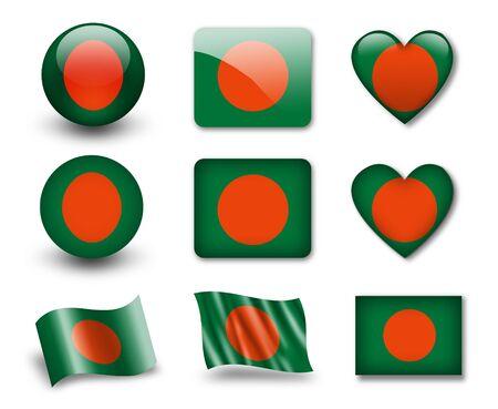national colors: The Bangladesh flag