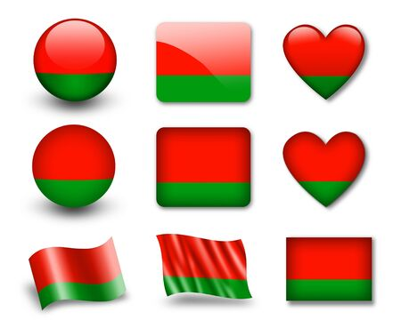 The Belarusian flag photo