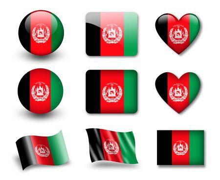 afghan: The Afghan flag Stock Photo