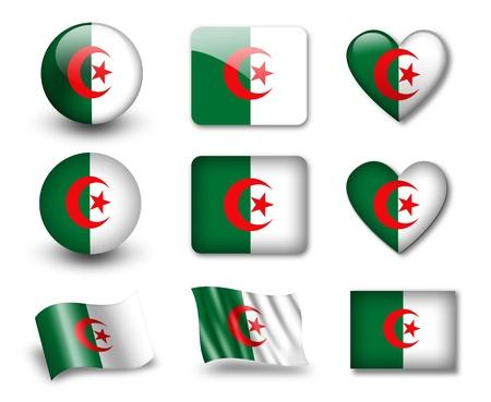 The Algerian flag photo