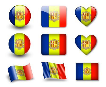 andorra: The Andorran flag