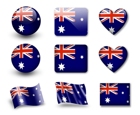 The Australian flag Stock Photo