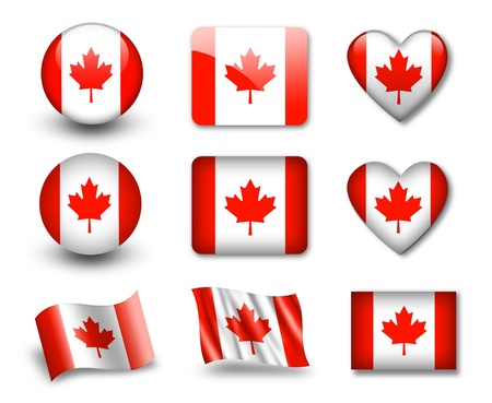 canadian state flag: The Canadian flag Stock Photo