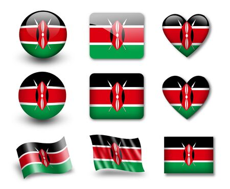 kenya: The Kenyan flag