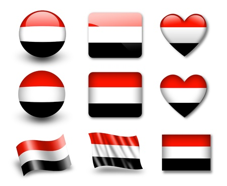 The Yemeni flag photo