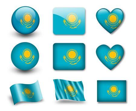 kazakh: The Kazakh flag