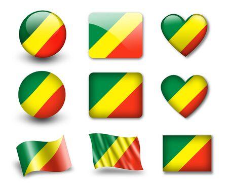 congo: The Congo flag Stock Photo