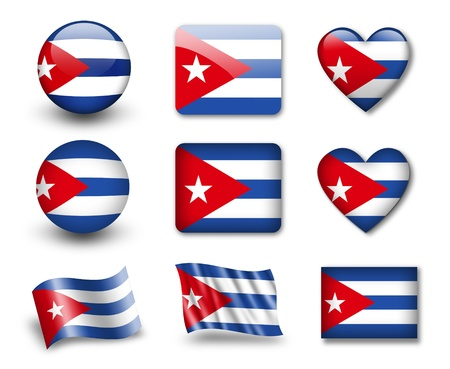 The Cuban flag photo