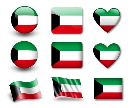 The Kuwaiti flag photo