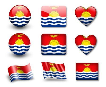 kiribati: The Kiribati flag Stock Photo