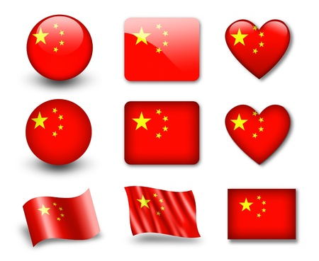 chinese flag: The Chinese flag Stock Photo
