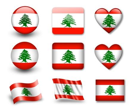 La bandera libanesa Foto de archivo - 12407055