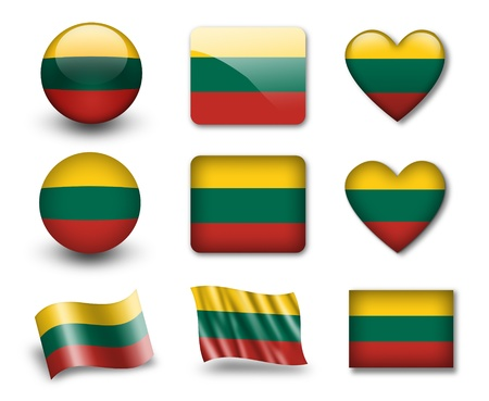 lithuania flag: The Lithuanian flag
