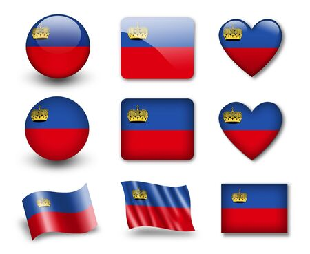 The Liechtenstein flag Stock Photo - 12407114