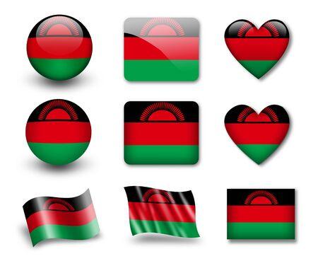 malawi flag: The Malawi flag