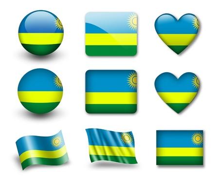 rwanda: The Rwanda flag Stock Photo