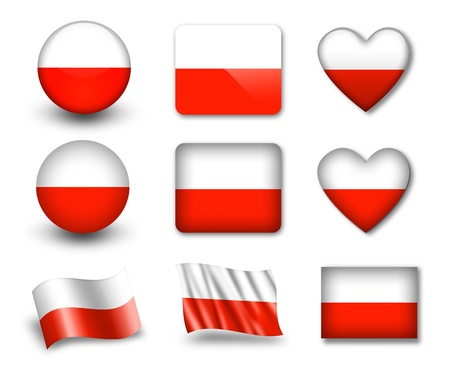 The Polish flag Stock Photo - 12407004
