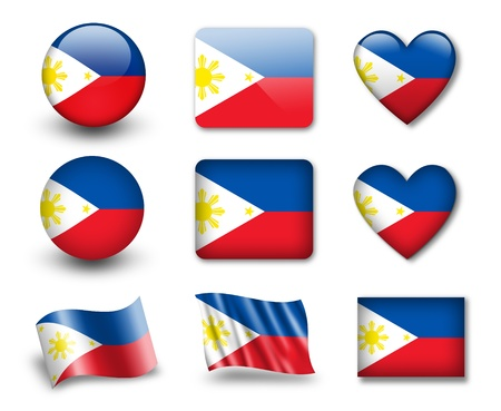 philippines: The Philippines flag Stock Photo