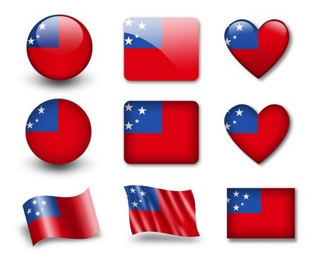 samoa: The Samoa flag