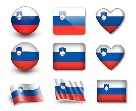 The Slovenia flag photo