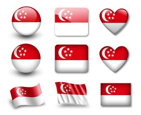 national  emblem: The Singapore flag Editorial
