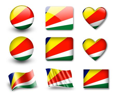 seychelles: The Seychelles flag Stock Photo