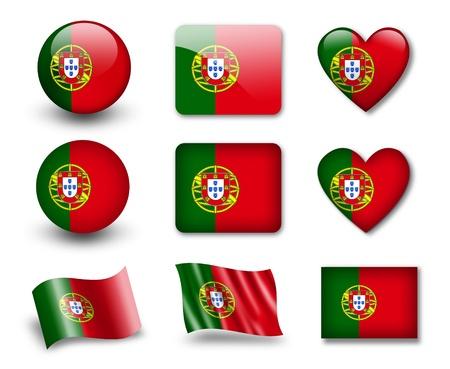 bandera de portugal: La bandera portuguesa Foto de archivo