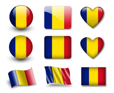 The Romania flag Stock Photo - 12407035