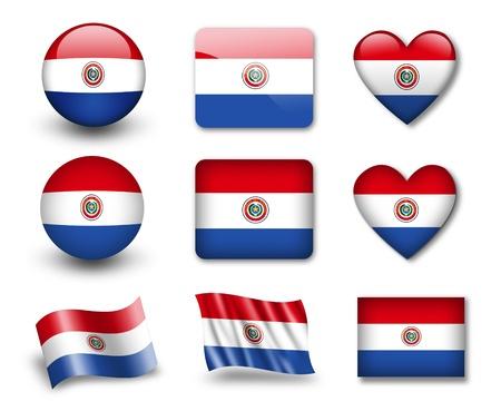 Paraguay flag: La bandera paraguaya Foto de archivo