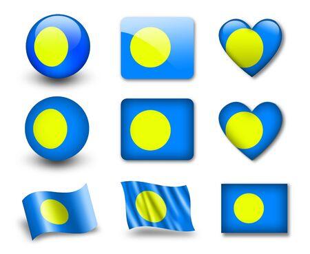 The Palau flag photo