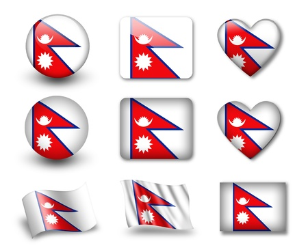 The Nepal flag photo