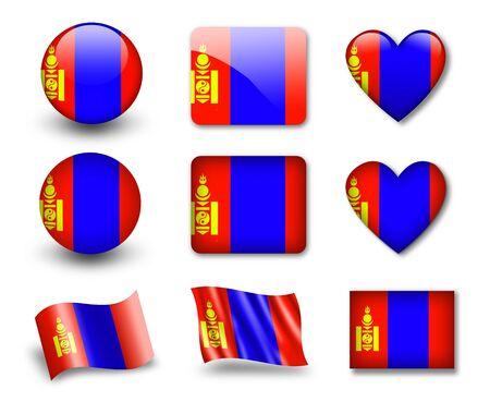 mongolian: The Mongolian flag