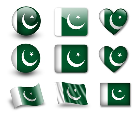 pakistani pakistan: The Pakistani flag