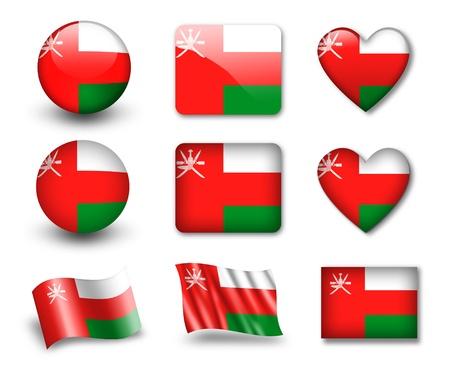 Oman: The Oman flag