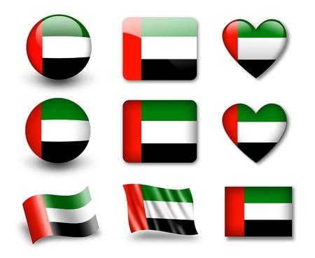 national emblem: The UAE flag Stock Photo