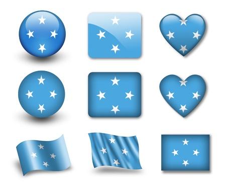 micronesia: The Micronesia flag Stock Photo