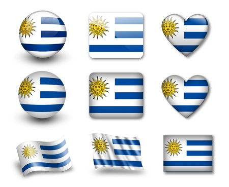 bandera de uruguay: La bandera uruguaya