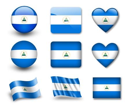 The Nicaragua flag photo