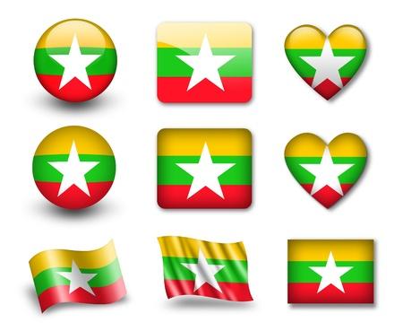 Myanmar: Le drapeau Myanmar