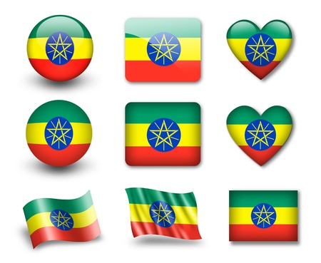 The Ethiopia flag photo