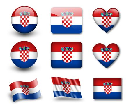 croatia: The Croatian flag Stock Photo