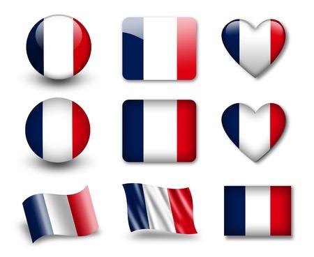 La bandera francesa Foto de archivo - 12406972