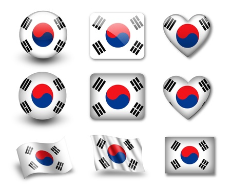 The South Korea flag
